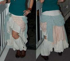 Steampunk skirt and spats by purpleravenwings