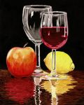 Wine glass and Fruits by Dusty-Feather