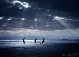 Football on the Beach by IsacGoulart