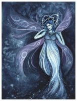 Goddess, Faery of Starlight by DragonTreasureArt