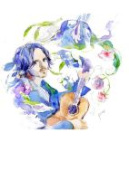 2012-9-8 Watercolor Johnny by amoykid