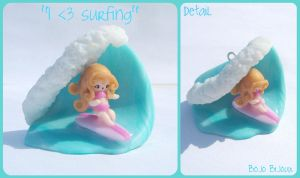 Kawaii surf charm by Bojo-Bijoux