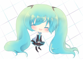 Cheebi l  Miku by Starcookie1234