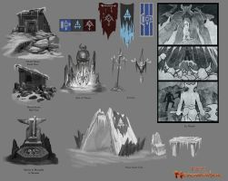 Neverwinter Concept: Icespire Peak props by CarmenSinek
