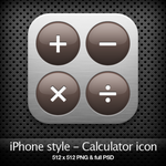 iPhone style - Calculator icon by YaroManzarek