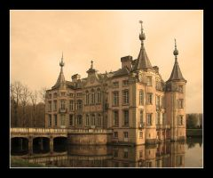 Water-castle in sepia by SmoothEyes