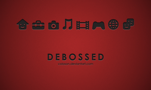 Debossed PS3 Theme by coloson
