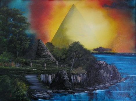 Pyramid World by kryomek1