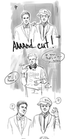 Glee FanArt: On set by NinaKask