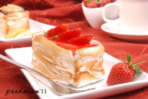 Strawberry Chesse Cake by Ronaldpanda