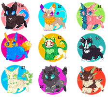 Easter adoptable batch - CLOSED by 11monsters