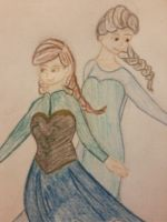 Frozen Sisters by MissMartian4ever