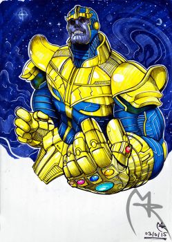 Thanos by loneHUNGRYwolf