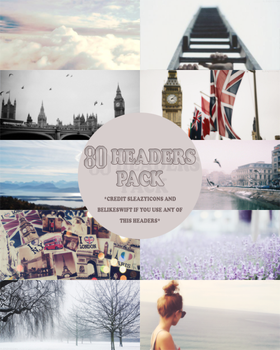 80 Headers Pack By Sleazyicons-belikeswift by sleazyicons