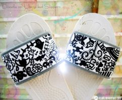 Doodle: Upcycled Slippers by VSCiel