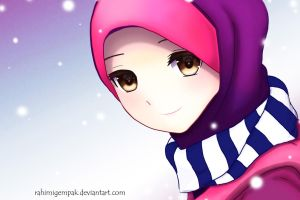 Muslim Anime Qaimasarah : It's snowing by Rahimi-AF