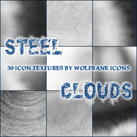 Steel Clouds Icon Texture Set by jordannamorgan
