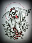 MUERTE tattoo design by MWeiss-Art