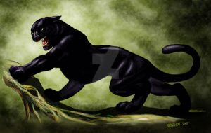 Panther concept by SMorrisonArt