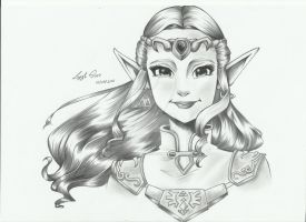 Zelda from Ocarina of Time Drawing by LayzeMichelle