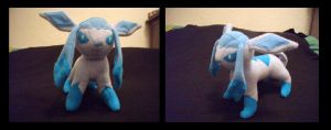Glaceon Plush by fireflytwinkletoes