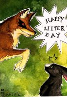 HAPPY LITTERDAY! For Nesuki by CoyoteCanine