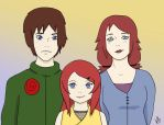 Kushina Uzumaki Family by halogirl237