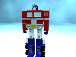 Optimus Prime by thequestionmark