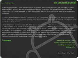 Simple Android Journal Skin by melissapugs