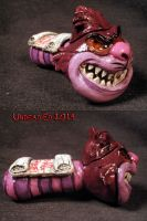 Disney Style Psychotic Cheshire Cat Pipe by Undead by Undead-Art