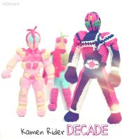 Kamen rider decade from crochet by el-desant