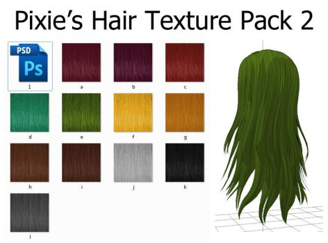 Hair Texture Pack 2 by MissingPixieSticks