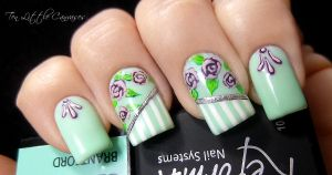 Sweet Spring Nail Design by TenLittleCanvases