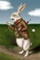 Alice's White Rabbit by Fritze