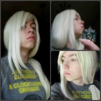 Young Lucius wig test. by ICannotDrawToSaveMe