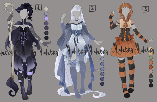 :: Outfit Adoptable Halloween: AUCTION CLOSED :: by VioletKy