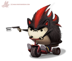 Daily Paint #990. Edgy the Hedgy (FA) by Cryptid-Creations