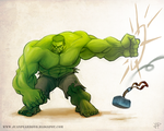 the Hulk  Brofist by Naujack