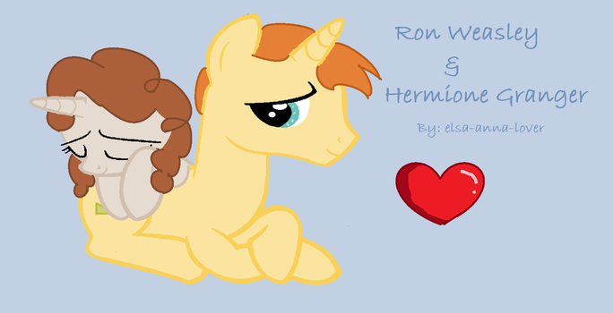 Ron Weasley and Hermione Granger by elsa-anna-lover