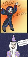 Dumbledore Trolls Slytherins by airagorncharda