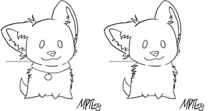 Puppy Lineart2 by MarbleMyst