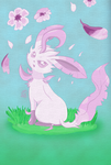 Cherry Blossom Leafeon by Dazed--Flame