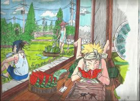 naruto shippuden in summer by neko-p