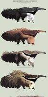 Giant anteater colours by 5019