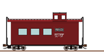 Frisco Wood sided caboose by gh22