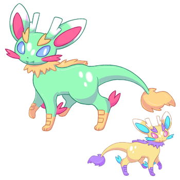 Dragon Eeveelution: Fafneon by Swag-Beetles