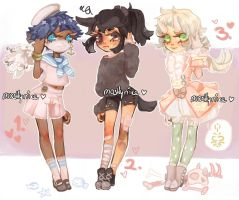 test trio +CLOSED+ by mostlyniceAdopts