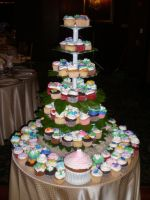 Cupcake Wedding Tower by amysalmon