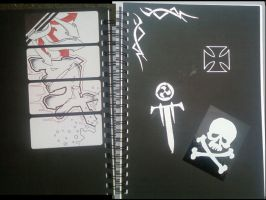 Latest Sketch Book Cover by virusoverload