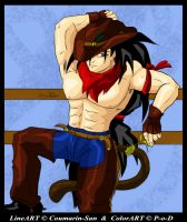 Coumarin-San Cowboy Raditz by Paradise-of-Darkness